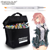 FINECOLOUR 72 Custom Colors Artist Double Headed Sketch Marker Set Alcohol Based Manga Art Markers For