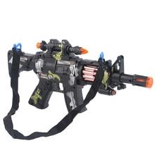 Childrens Toy Submachine Gun Orbeez Electric Simulation Pistol Music Camouflage Christmas Birthday Gift