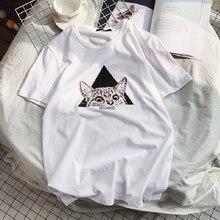 Harajuku cat cartoon cute short-sleeved T-shirt