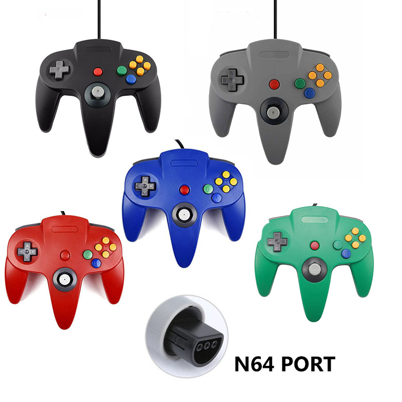 N64 JoypadWired Gaming Gamepad Game Pad Joystick Para Gamecube Para Mac Gamepads PC joystick controlador de jogo