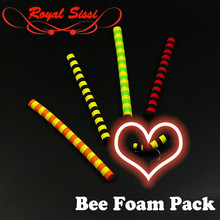 4optional styles bee foam bodies pack with leech mohair yarn 3inches long EVA cylinders medium size dry fly tying materials