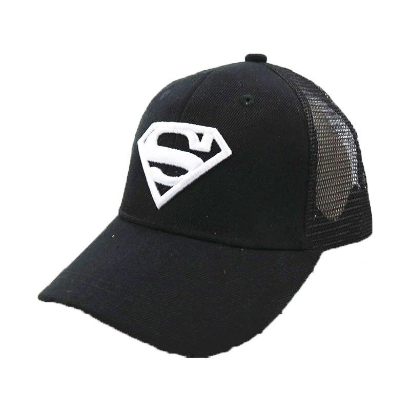 Unisex Mesh Baseball Hat Superman Embroidery Child Hat Adjustable Snapback Boys Baseball Caps Kids Summer Girls Baseball Cap