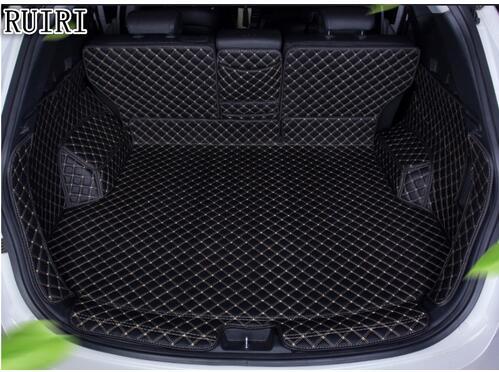 Top quality! Special car trunk mats for Hyundai Santa fe 5 seats 2017 2013 durable boot carpets cargo liner mat for Santafe 2016