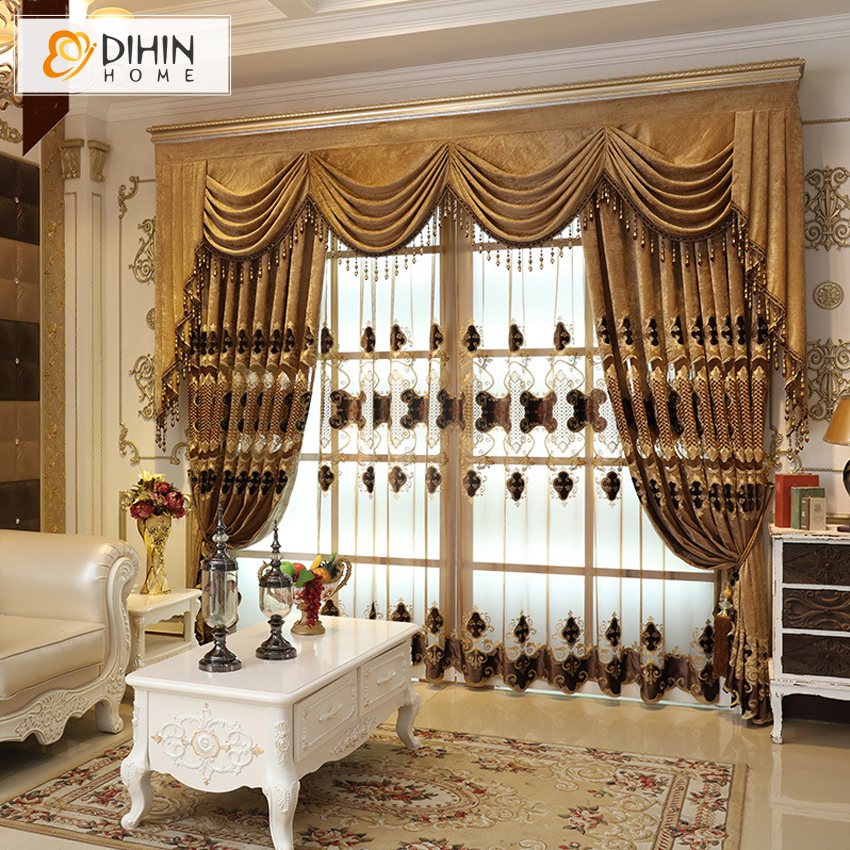 Etonnant DIHIN HOME 1 PC European Valance Luxury Room Curtains For Living Room  Embroidered Voile Curtain Bedroom Window Curtain  In Curtains From Home U0026  Garden On ...