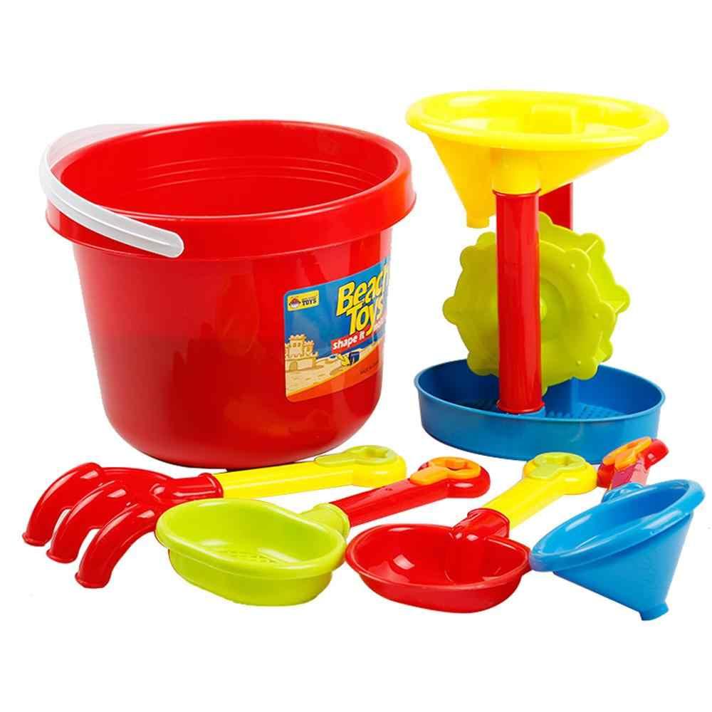 Juego de juguetes de playa para niños, cubo, pala para ARENA, casia, herramientas para bebés, juguetes de playa, herramientas para niños