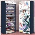 Многослойный пыленепроницаемый шкаф для обуви с мультипликационным рисунком DIY для домашнего хранения обуви Простая подставка для обуви д...