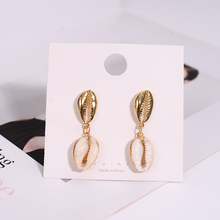 Minimalist Shell Earrings Unique Summer Party Style Ornaments Womens Gifts Exquisite Sweet Metal Pendant