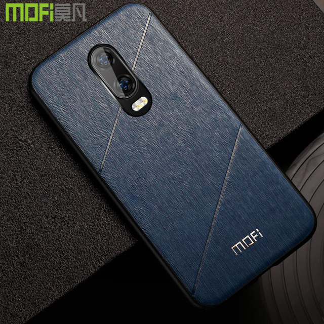 MOFi OnePlus 6T Luxury Business Style Shockproof Back Case Cover