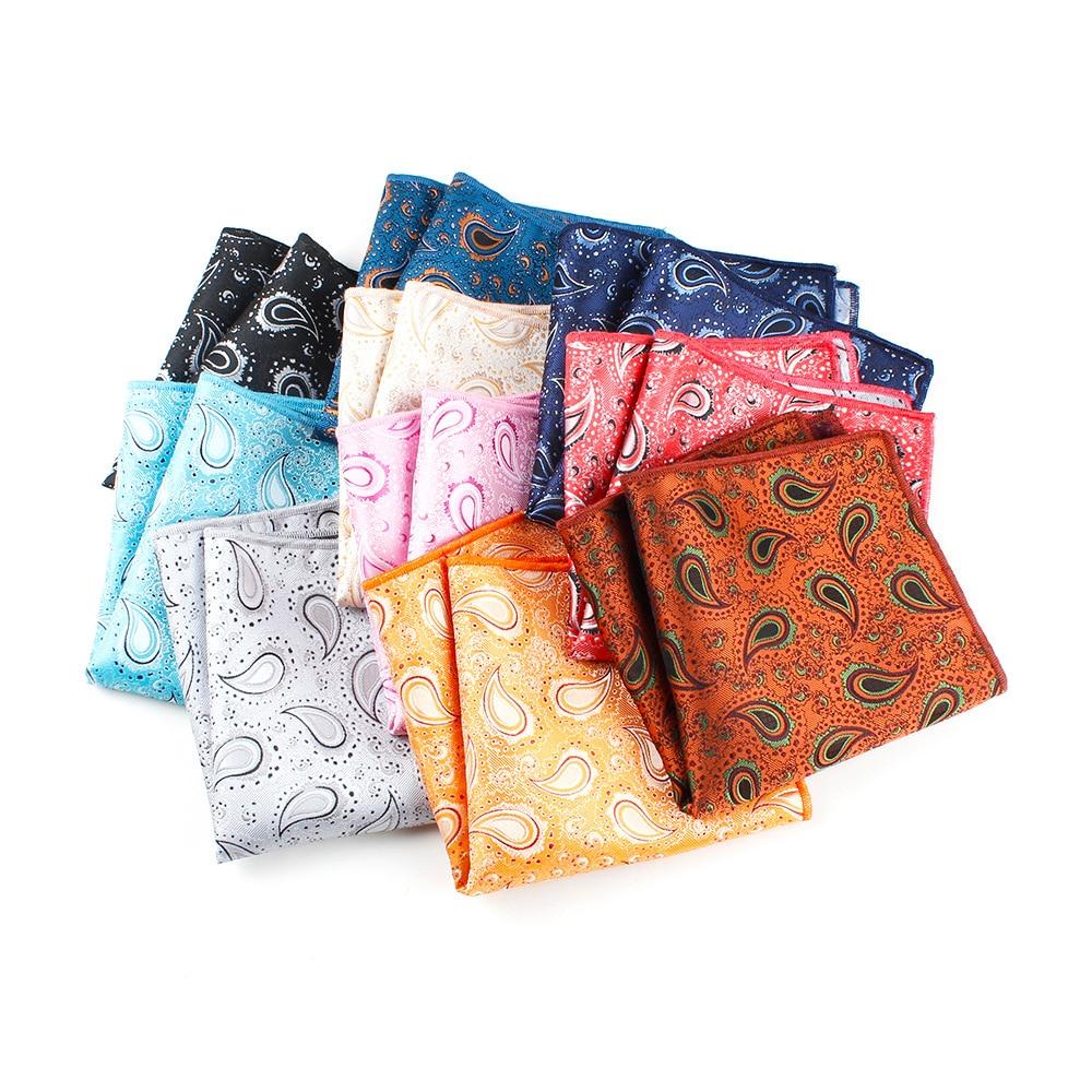 Men Pocket Square Suits Hanky For Men Floral Mens Handkerchiefs Casual Suits Square Handkerchief Towels For Party 25 Cm X 25 Cm