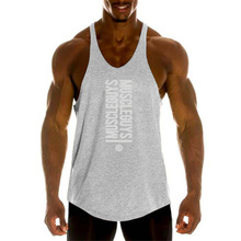 Gyms Tank Top Men Bodybuilding Clothing Blank shirt Fitness Singlets Sleeveless shirt workout Cotton Muscle Vest
