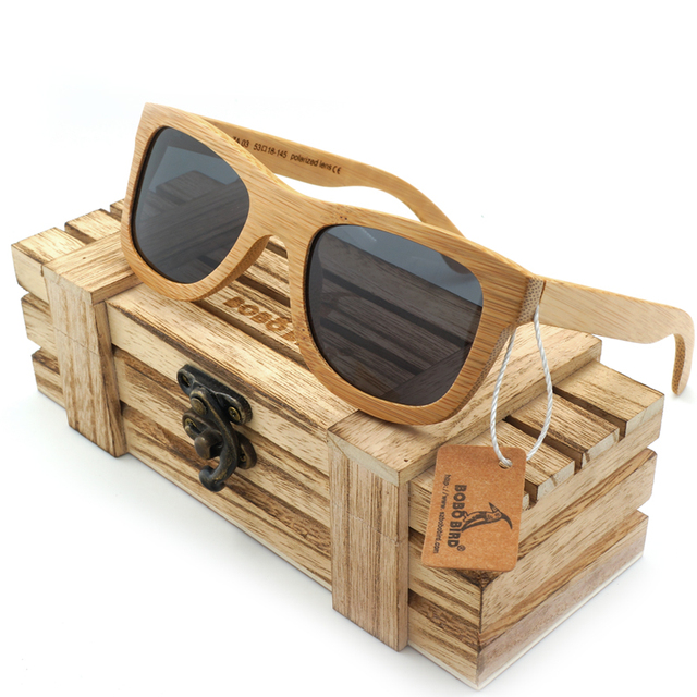 Bobobird Handmade Wood Sunglasses Wooden Eyewear Bamboo Wood Sun Glasses in Wood Box lunette de soleil  Dropshipping BS008