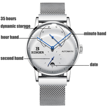 Switzerland BINGER Men's Watches Luxury Brand Automatic Mechanical Men Watch Sapphire Male Japan Movement B-7