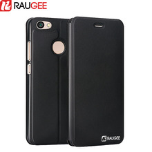 "Raugee Flip Case for 5.5"" Xiaomi Redmi Note 5A Pro (3GB RAM) Leather fundas Protective Back Cover Top Quality PU Stand Case(China)"