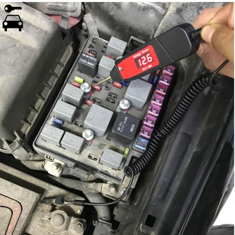 Universal 5-36 V LCD automotriz circuito Digital voltaje del probador pluma voltímetro coche circuito escáner OBD2 diagnóstico herramienta