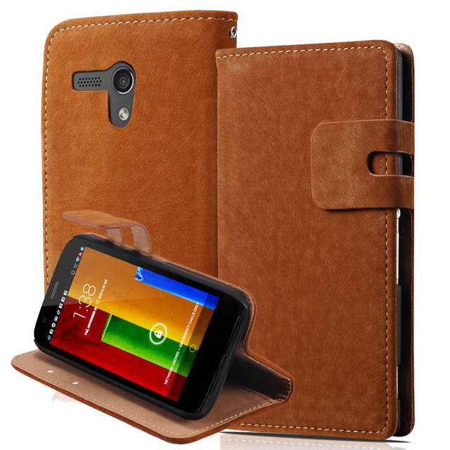 For Moto G Wallet Cover Ultra Soft PU Leather Case For Motorola Moto G XT1028/XT1031/XT1032 Phone Bag With Card Holder Bill Site