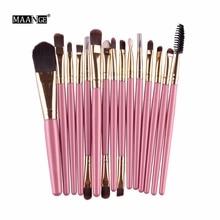 15 Pcs Professional Cosmetic Makeup Brush Women Foundation Eyeshadow Eyeliner Lip Brand Make Up Eye Brushes