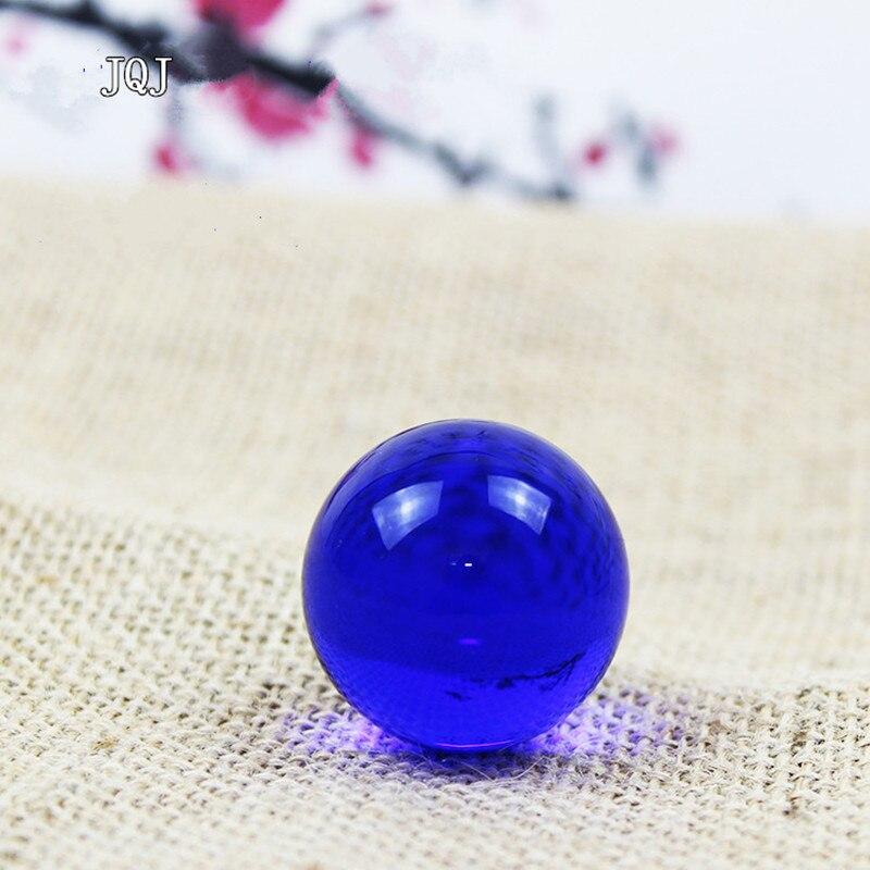 JQJ Crystal Glass Sphere Ball 3 cm Mini Child Globe Toy Ball Feng shui Home Garden Decorative Water Fountain Amber Stone Balls