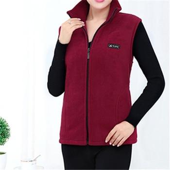 UHYTGF 2018 New Fleece Women Vests Autumn Korean Plus size Sleeveless Jackets Ladies Fashion Zipper Casual Waistcoat Female 442 13