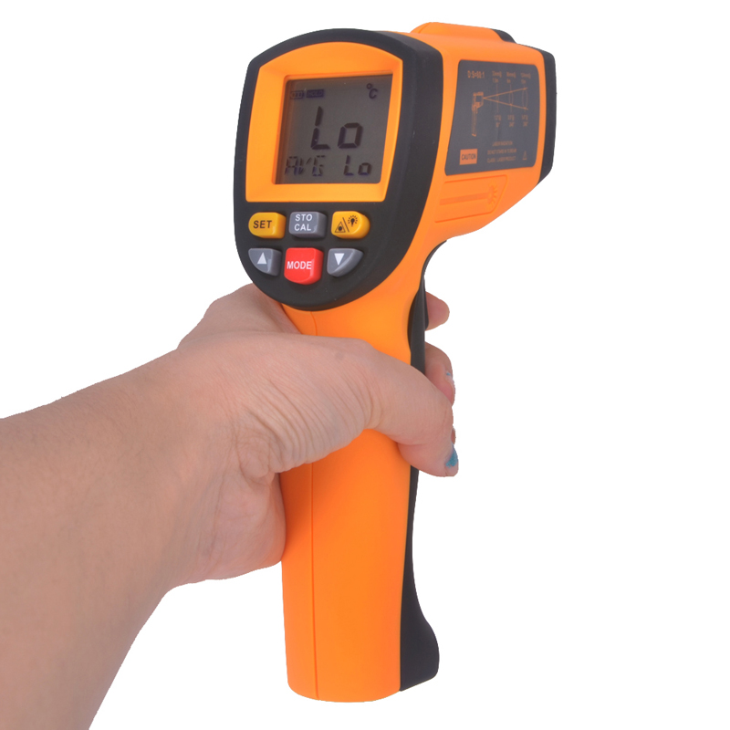 US $140 7 33% OFF|GM1850 200 1850 oC Digital Infrared Thermometer  Temperature Measuring Gun Industrial Thermometer Online Measuring Tool-in
