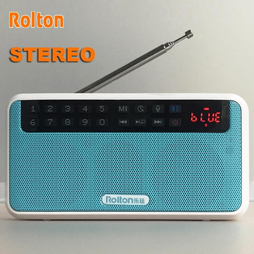 Vorsichtig Rolton Stereo Tragbare Bluetooth Lautsprecher Bass Dual Lautsprecher Für Sport Mit Radio Fm Tf Karte Usb Mp3 Player Und Taschenlampe E500 Verpackung Der Nominierten Marke Radio Tragbares Audio & Video