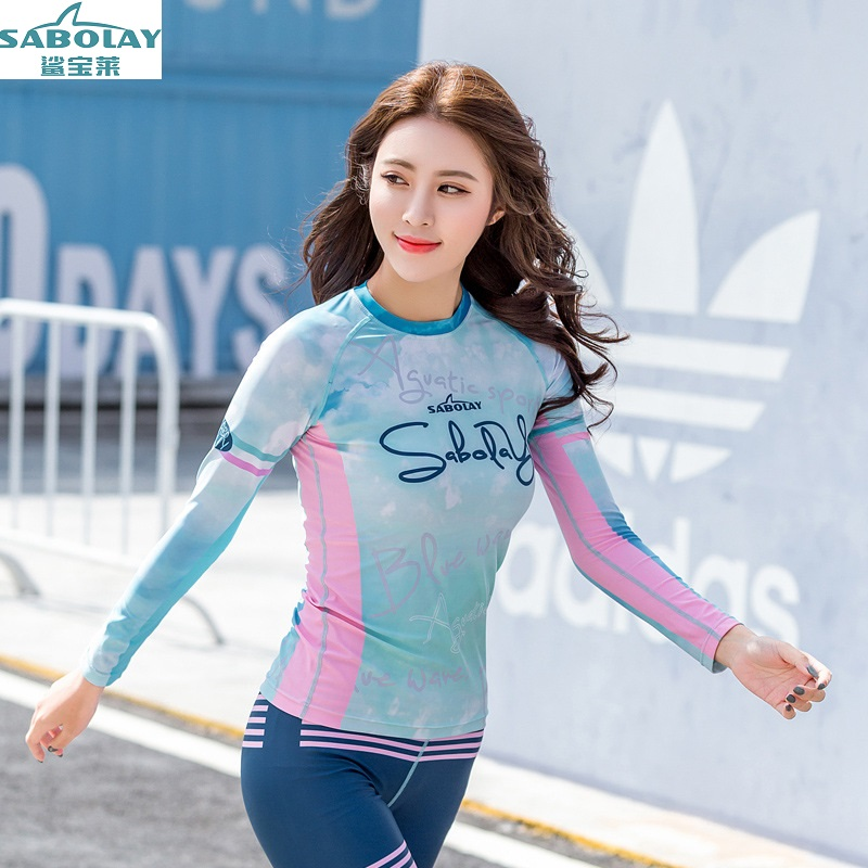 Quick drying outdoor Split Long sleeves Surfing suit Sunscreen Swimsuit Jellyfish font b clothing b font