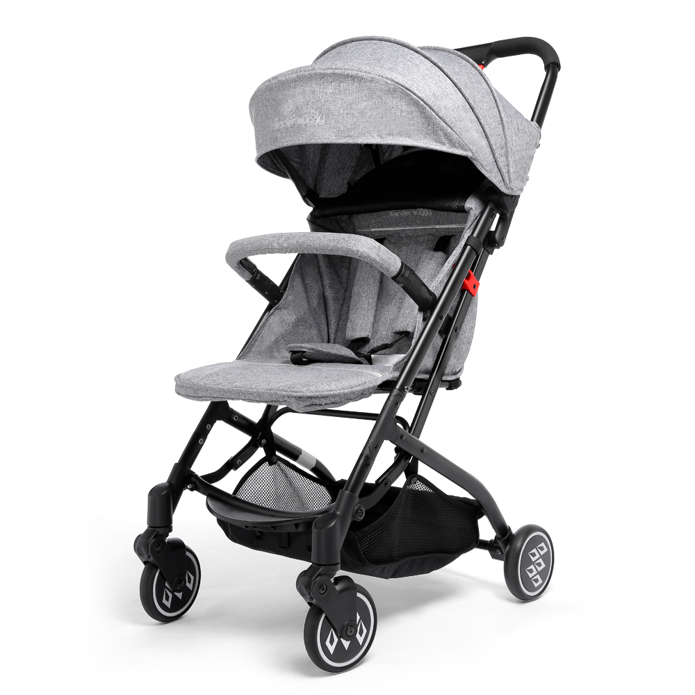 Wonder Buggy Foldable Stroller Baby Carriage One-Hand Control Basket Collapsible Pushcha ...