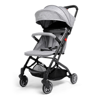 Wonder Buggy Foldable Stroller Baby Carriage One Hand Control Basket Collapsible Pushchair With Cup Holder Bassinet Four Wheel