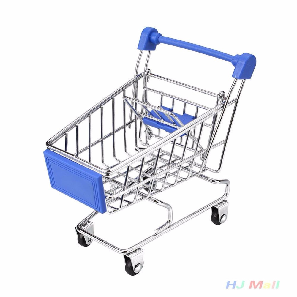 Random Color Four Wheels Mini Shopping Cart Supermarket Handcart Utility Mode Kids Child Doll Accessories Toy аксессуары для косплея random beauty cosplay