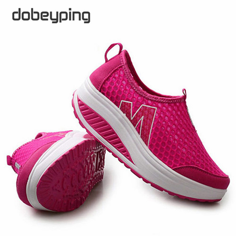 Neue Sommer Schuhe Frauen Atmungsaktive Air Mesh Frau Müßiggänger - Damenschuhe - Foto 5