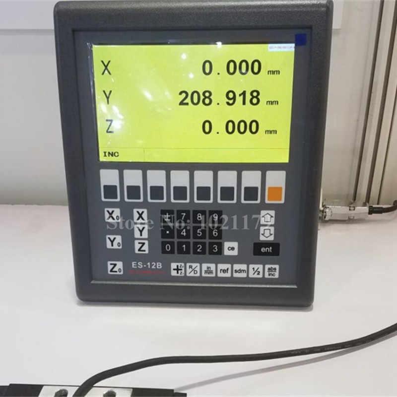 Novo sistema ES-12B 3 eixo DRO Easson mill torno de 3 eixos escala linear digital de leitura digital e 3 peças GS10 para torno moagem