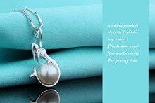 Unique Pearl Mermaid Pendant Necklace