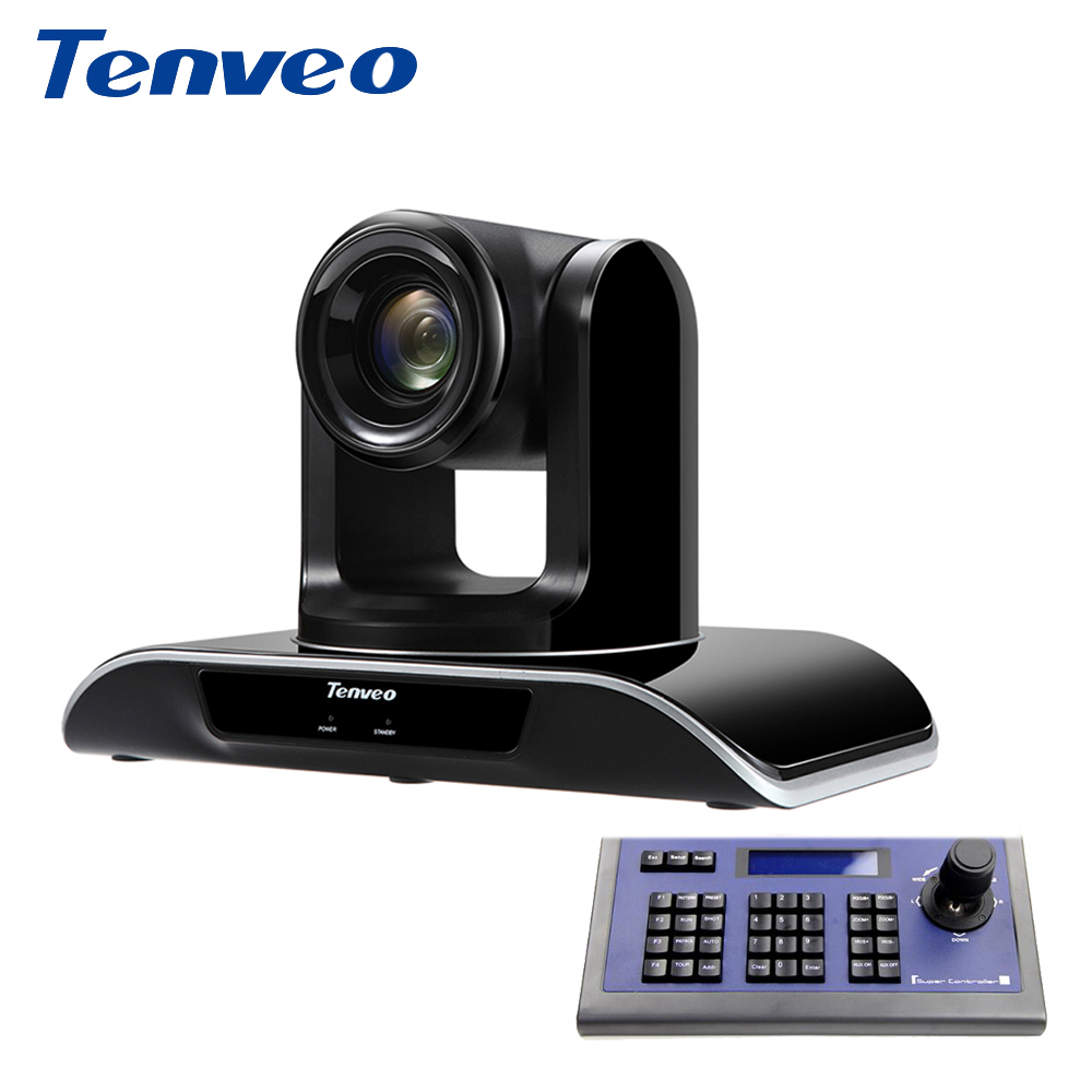 With PTZ Keyboard Controller Tenveo HD 1080p60fps HDMI PTZ Video Conference Camera 20X Zoom USB 3.0 HDMI Output for Projector image