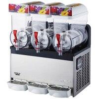1pc XRJ15X3 Snow melting machine Three tanks of commercial slush machine beverage ice machine and frozen Juice