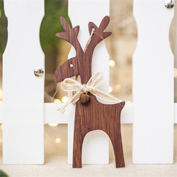 Christmas Deer Wooden Pendants Ornaments for Xmas Tree DIY Ornament Christmas Party Decorations Kids Gift hanging drop ornaments 5