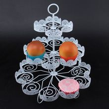 Detachable 3 Layers Iron Cake Stand 22 Cupcake Holder Cup Tray Table Birthday Wedding Party Decoration