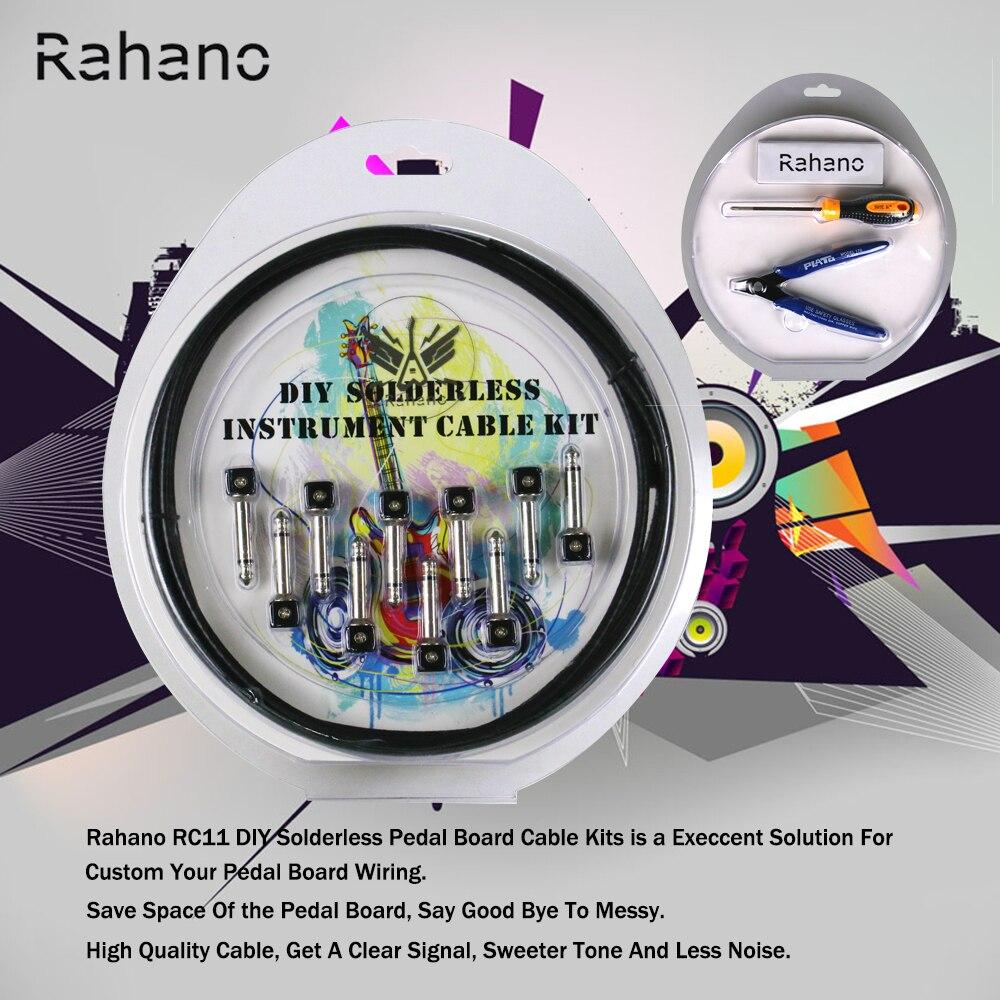 buy rahano diy solderless pedalboard customer kit guitar cable kit 10 feet 10. Black Bedroom Furniture Sets. Home Design Ideas