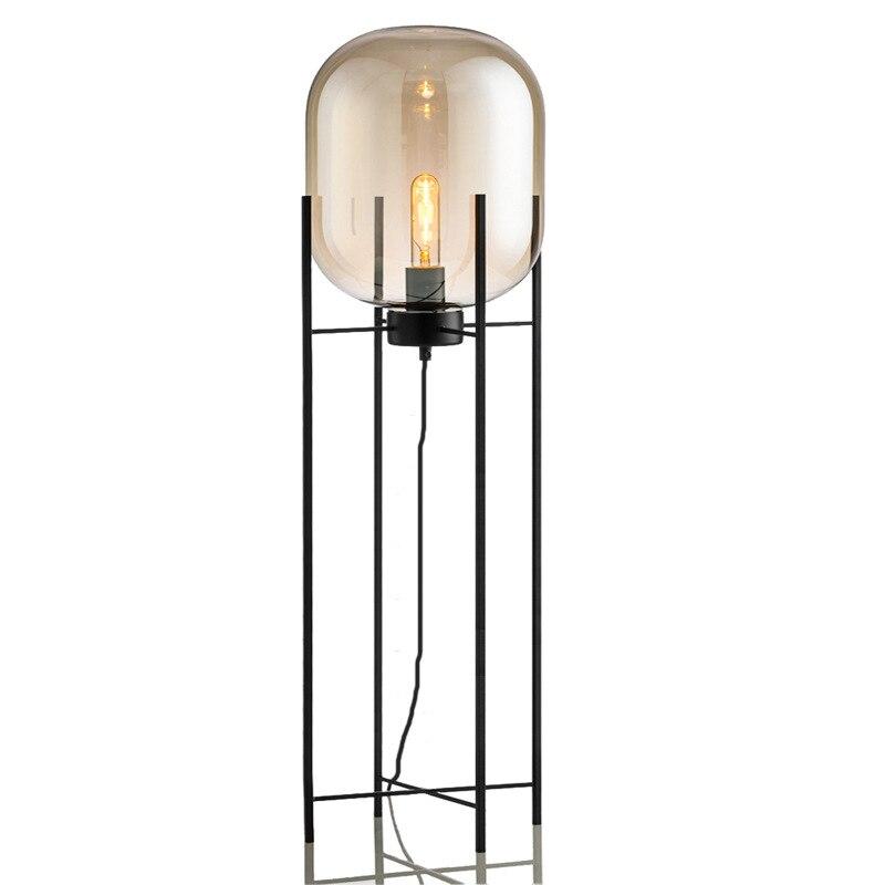 Image 3 - Modern home deco lighting Nordic floor lights LED living room standing fixtures Glass illumination bedroom floor lamps-in Floor Lamps from Lights & Lighting