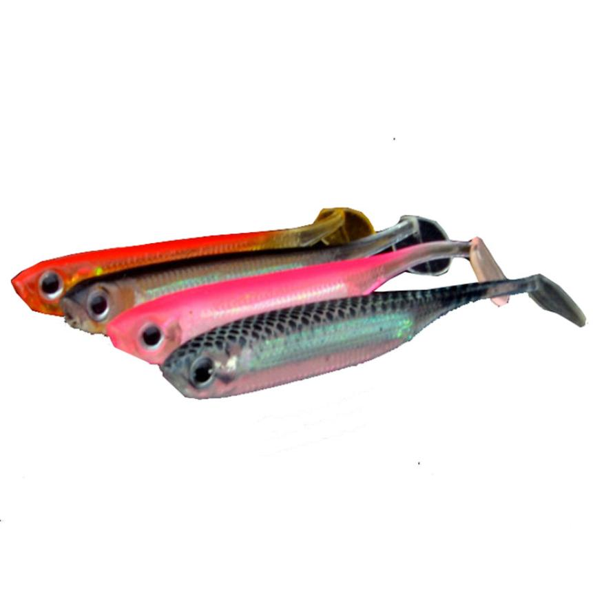 2017 new Fishing Lures 4pc Soft Lure for Fishing Shad FishingWormSwimbaits Jig Head Soft Fishing Bait september19