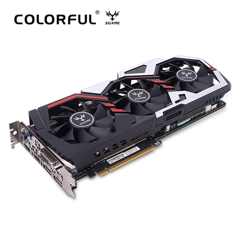 Original Colorful IGame GeForce GTX 1070 Ti U TOP Graphics Card 8008MHz 256bit 8GB GDDR5 DVI DP HDMI 90mm Fan Armor Backplane