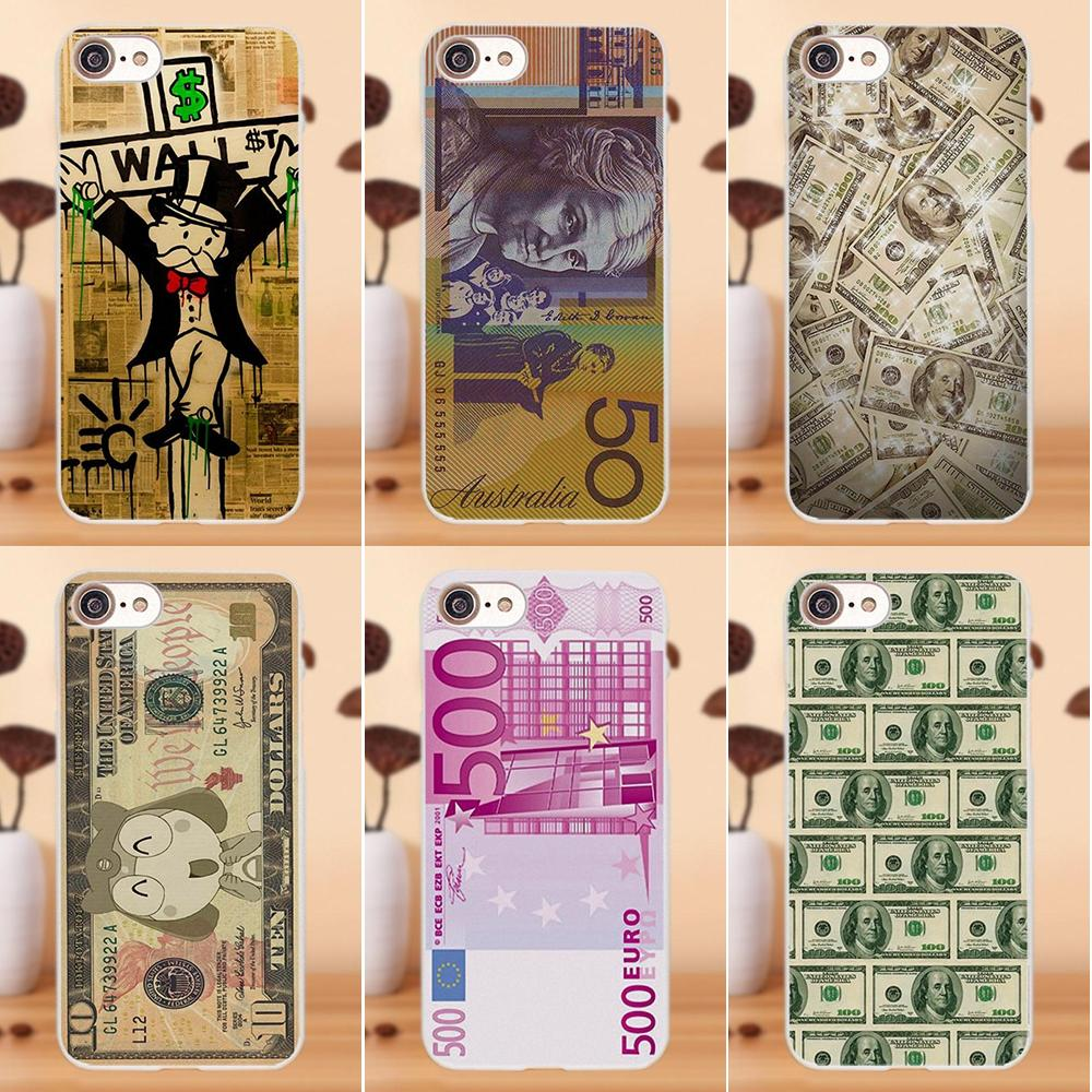 Soft TPU Art Cover Case For Apple iPhone 4 4S 5 5C SE 6 6S 7 8 Plus X For LG G4 G5 G6 K4 K7 K8 K10 Us Big Money 100 Dollars