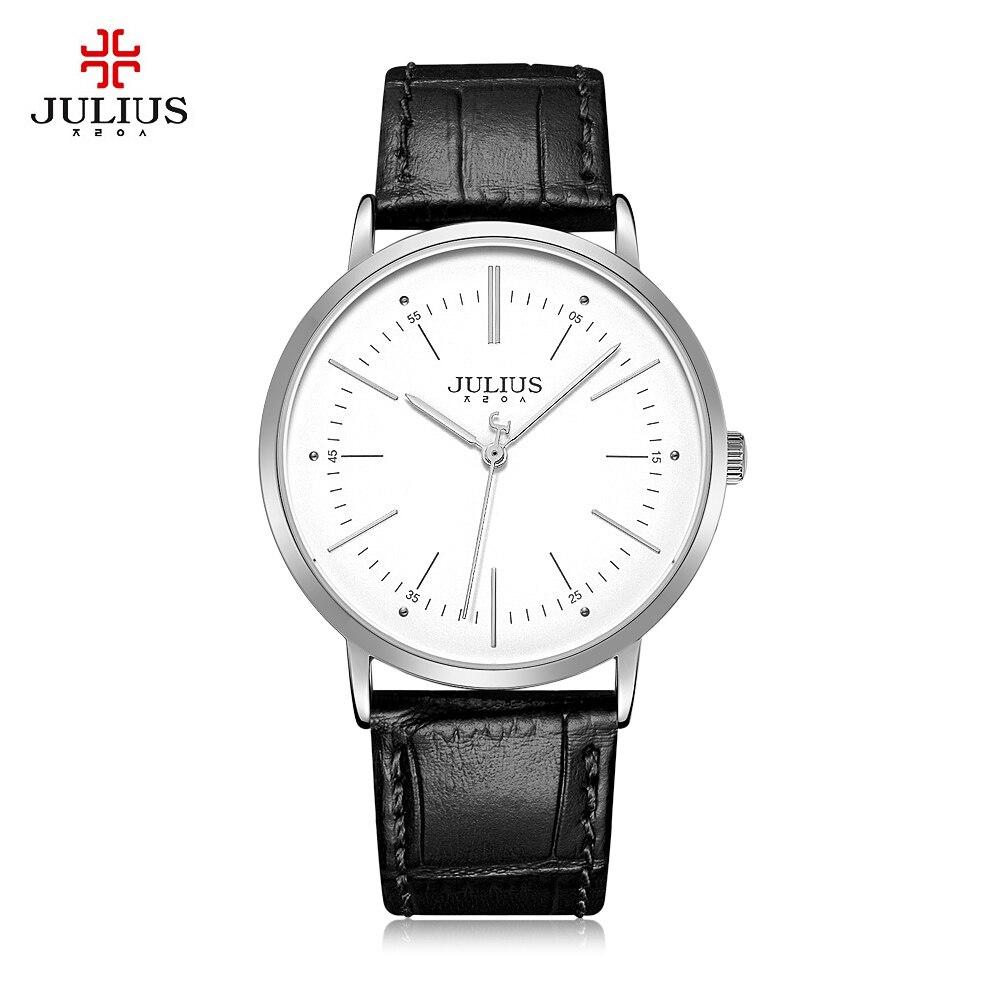 Julius JA - 1003 Male Quartz Watch Casual Big Dial Chic Business Bracelet Wristwatch for Men