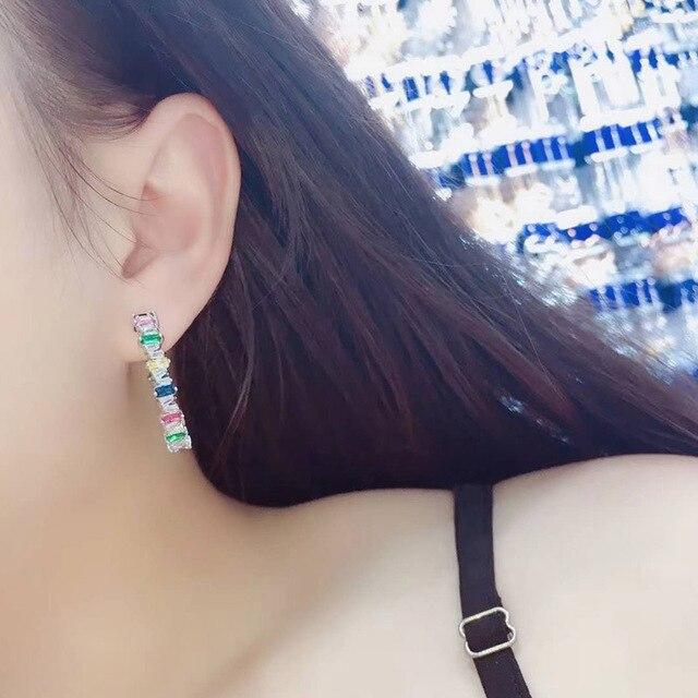Фото большие разноцветные серьги кольца be 8 2018 роскошные модные цена