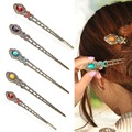 1Pc Vintage Hair Sticks Women Ladies Retro Crystal Chinese Style Hairpins Nice Hairwear Hair Clip