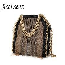 Frauen Handtasche Vintage Leder Mode Kleine Kette Quaste Umhängetaschen Große Kette Handtaschen Frauen Messenger Bags