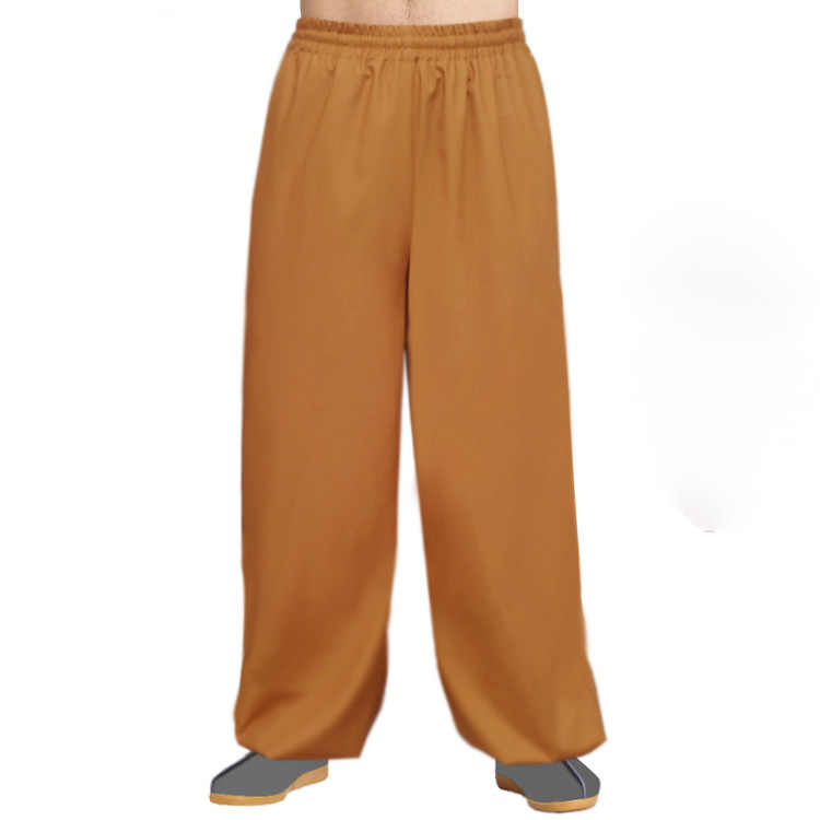 unisex Summer&Spring buddhist monks zen trousers bloomers shaolin monk Kung Fu martial arts pants