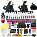 Solong Tattoo Complete Tattoo Kit for Beginner Starter 2 Pro Machine Guns 28 Inks Power Supply Needle Grips Tips TK204-21