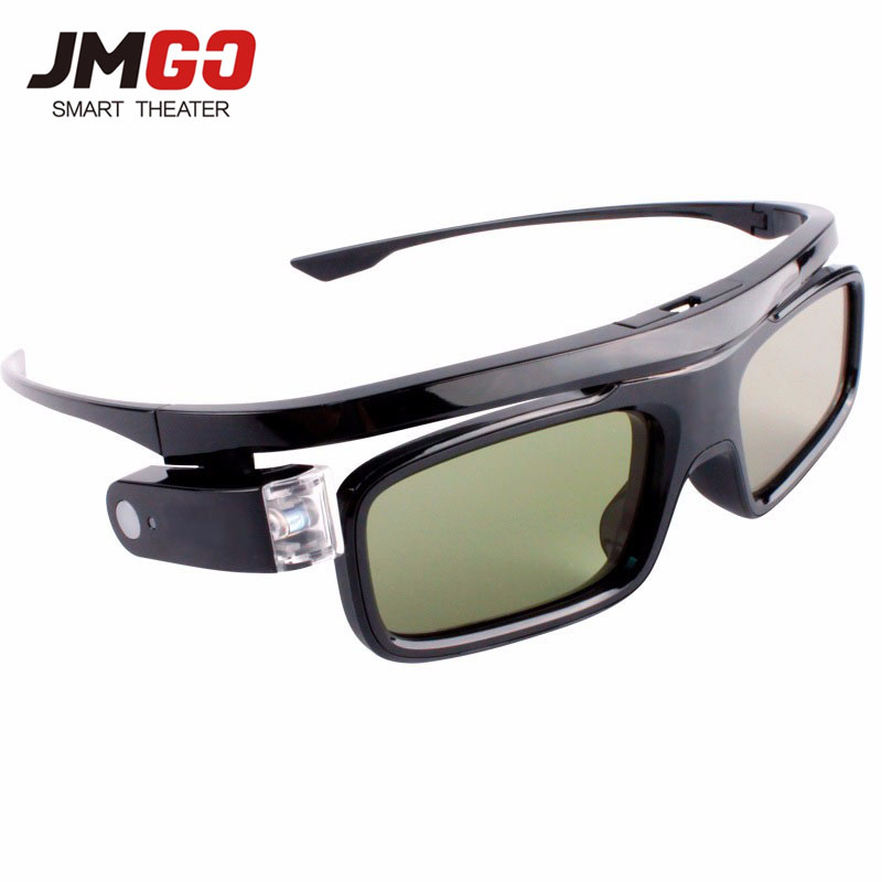 JMGO Original Active Shutter 3D Glasses for JMGO Projector, Built-in Lithium Battery Support DLP LINK sg08 bt 3d active shutter glasses w bluetooth for 3d projector tv black