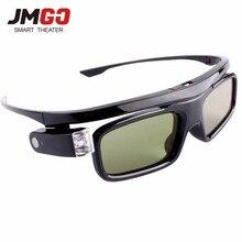 JMGO Original Active Shutter 3D Glasses for JMGO Projector, Built-in Lithium Battery Support DLP LINK