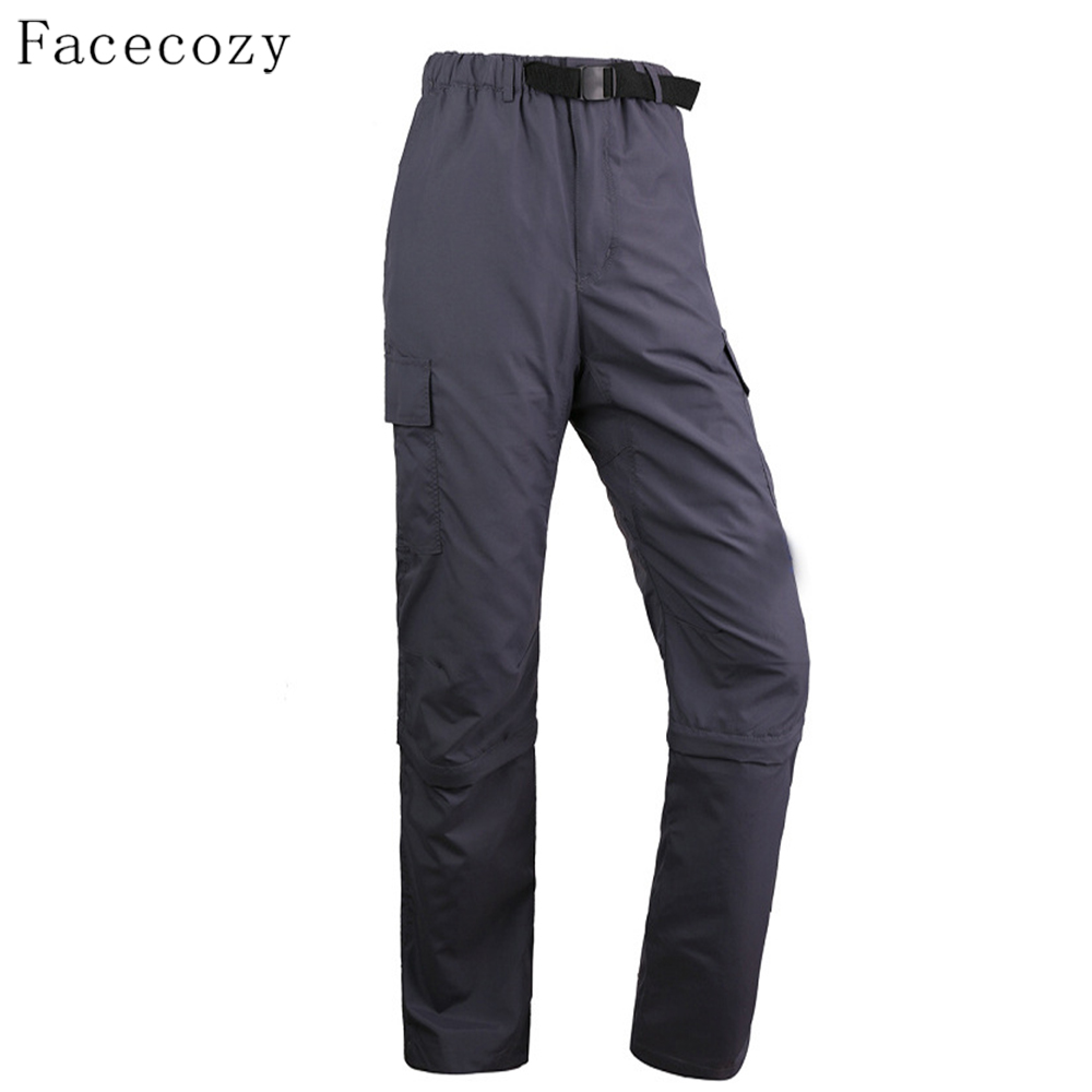 Facecozy Men Summer Outdoor Camping Climbing Pants Sports Sun Protection Pant  Lightweight Quick Dry Removable Hiking Trousers