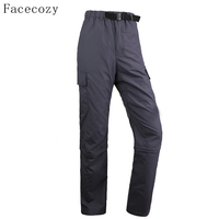 Facecozy Men Summer Outdoor Sun Protection Pant  Lightweight Quick Dry Removable Hiking Trousers